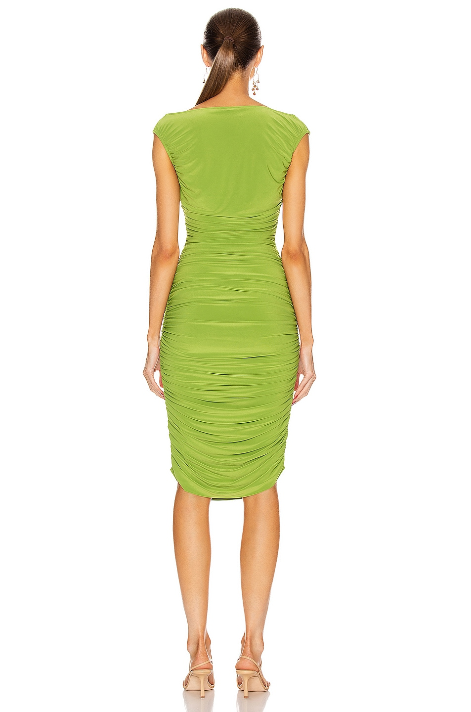 Image 3 of Norma Kamali for FWRD Tara Dress in Matcha Green