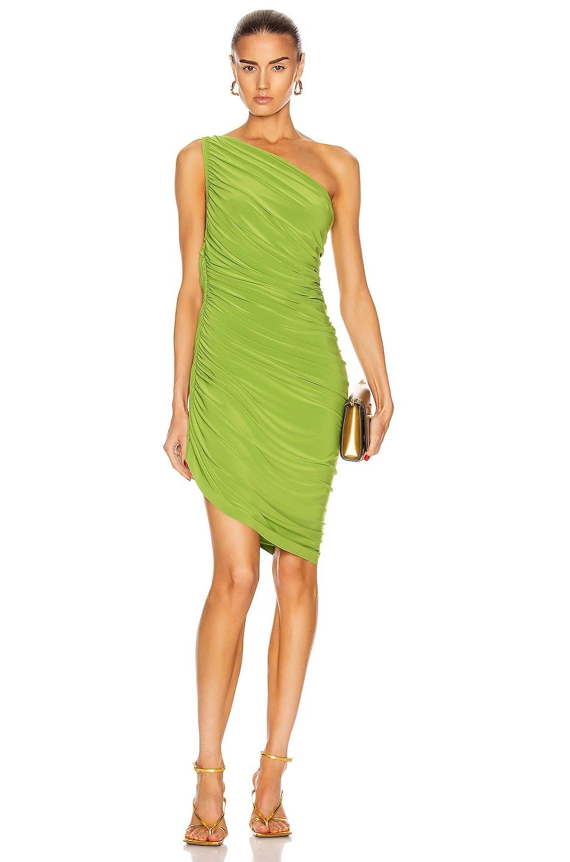 Image 1 of Norma Kamali for FWRD Diana Mini Dress in Matcha Green