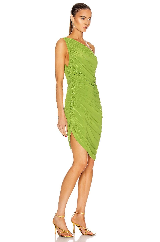 Image 2 of Norma Kamali for FWRD Diana Mini Dress in Matcha Green