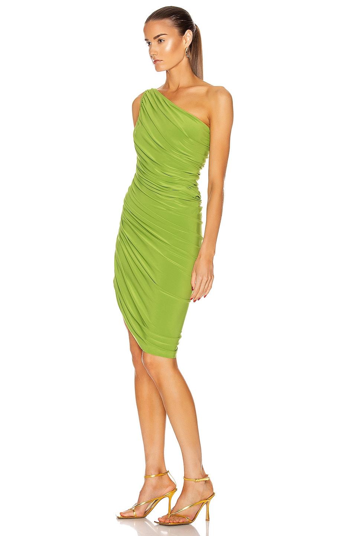 Image 3 of Norma Kamali for FWRD Diana Mini Dress in Matcha Green