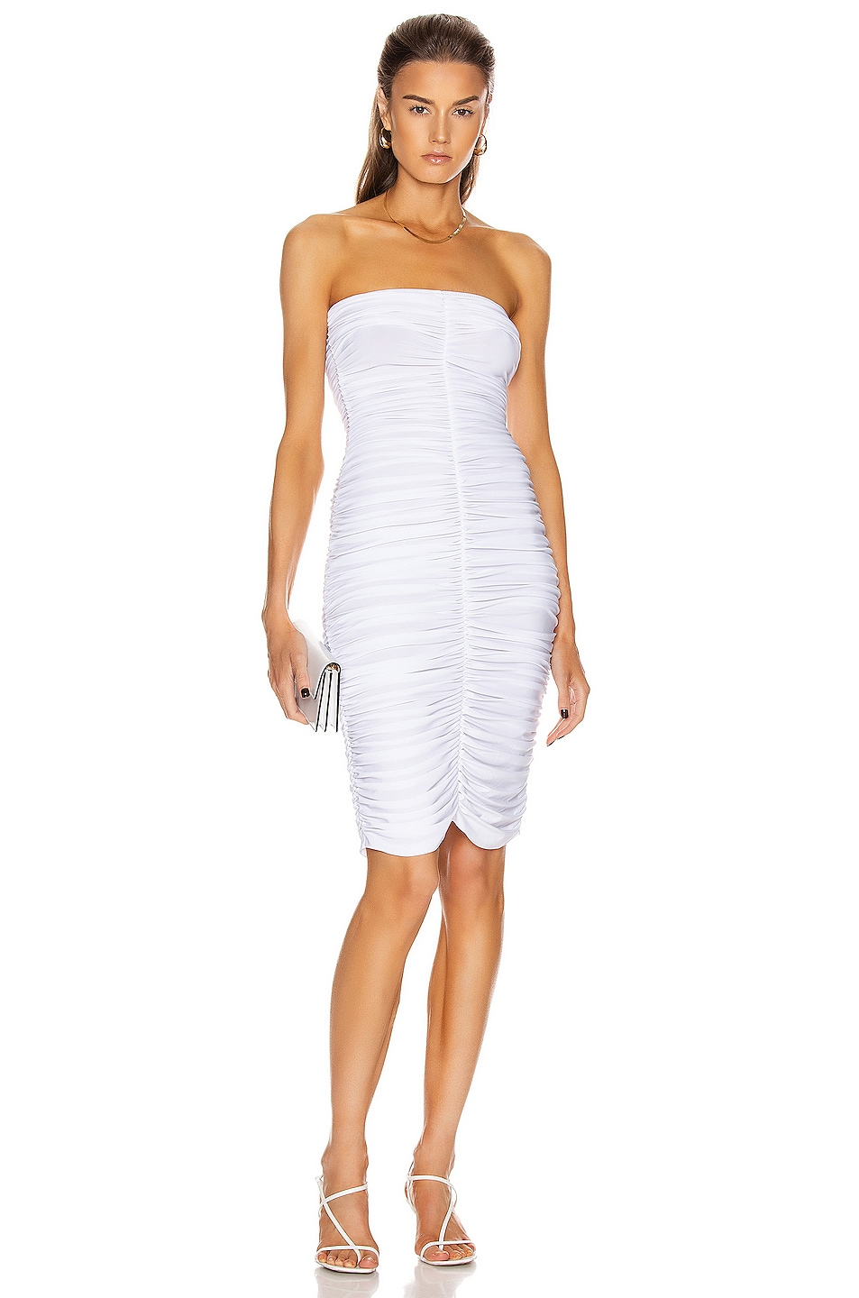 Image 1 of Norma Kamali Slinky Dress in White