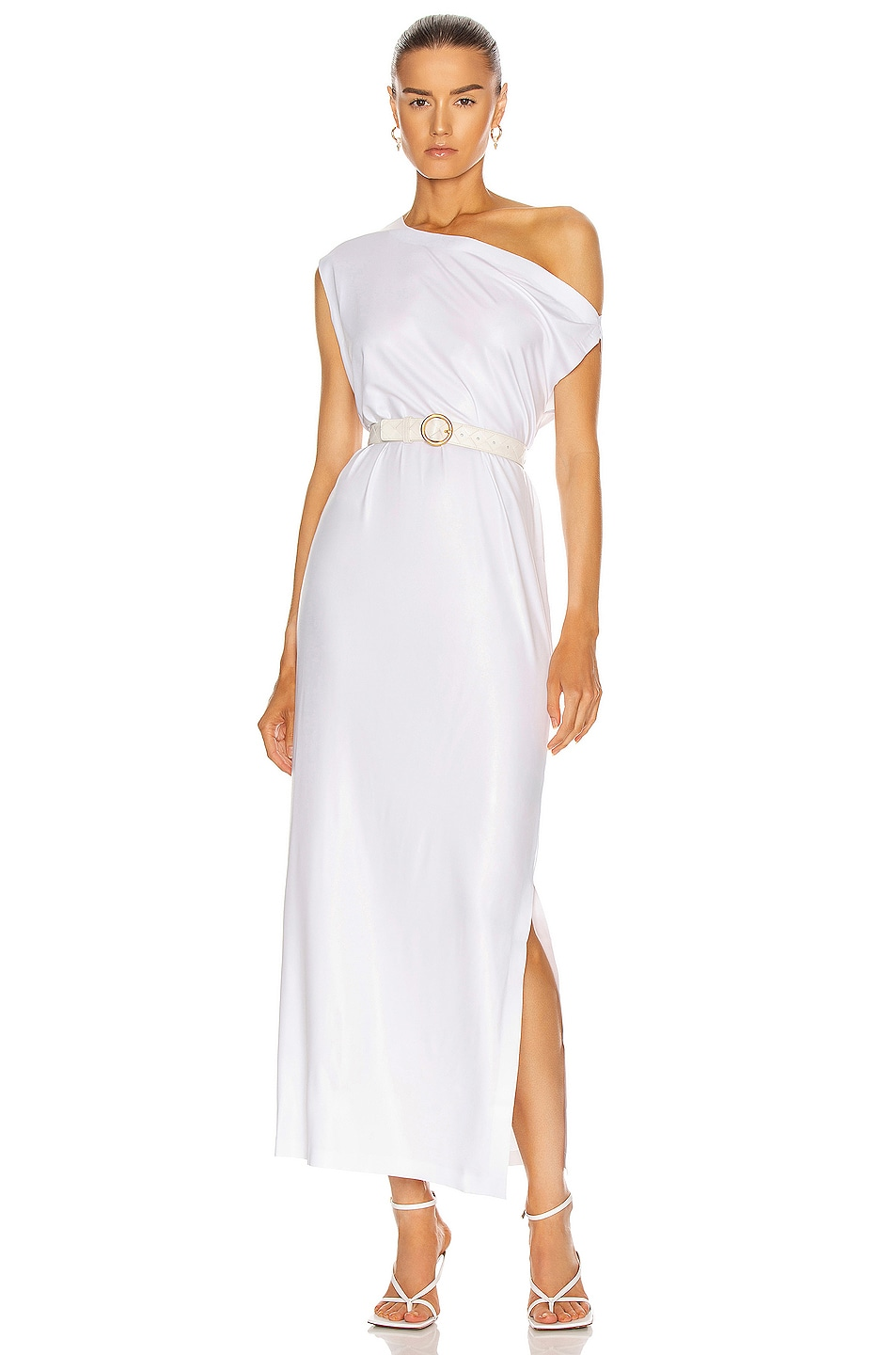 Image 1 of Norma Kamali Drop Shoulder Gown in White