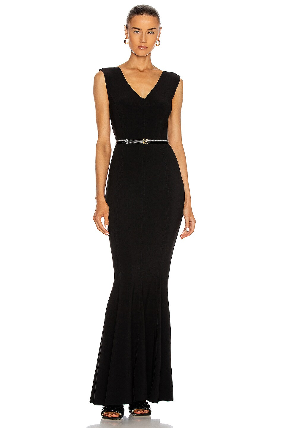 Image 1 of Norma Kamali Grace Fishtail Gown in Black
