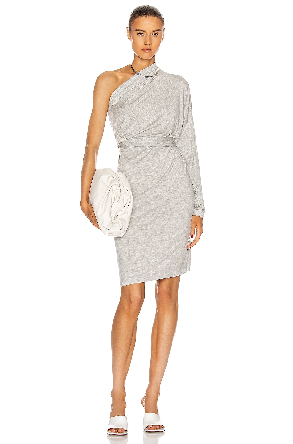Image 1 of Norma Kamali All In One Dress in Light Grey