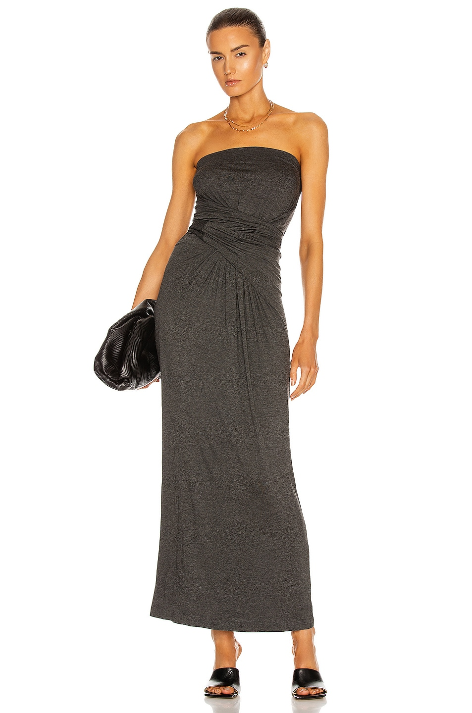 Image 1 of Norma Kamali All In One Dress To Midcalf in Dark Grey