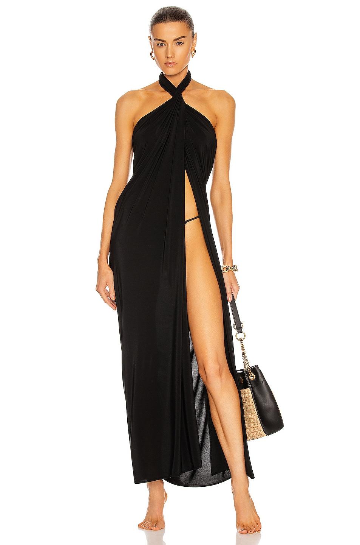Image 1 of Norma Kamali Ernie Scarf Dress in Black