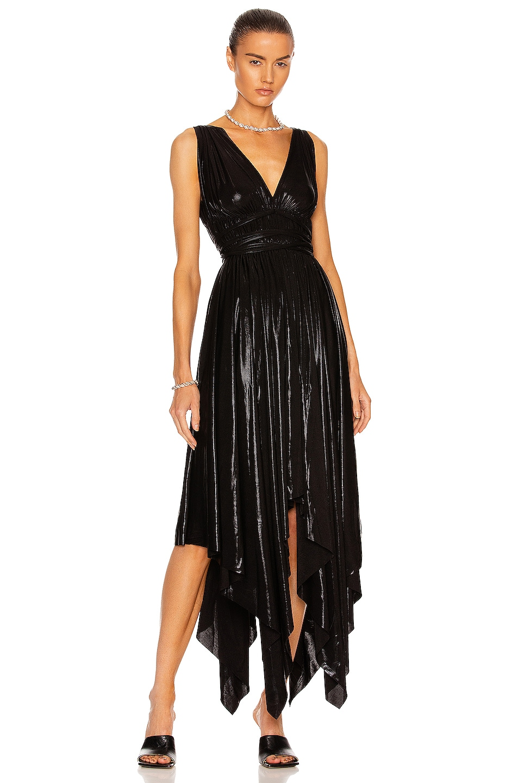Image 1 of Norma Kamali Goddess Dress in Black