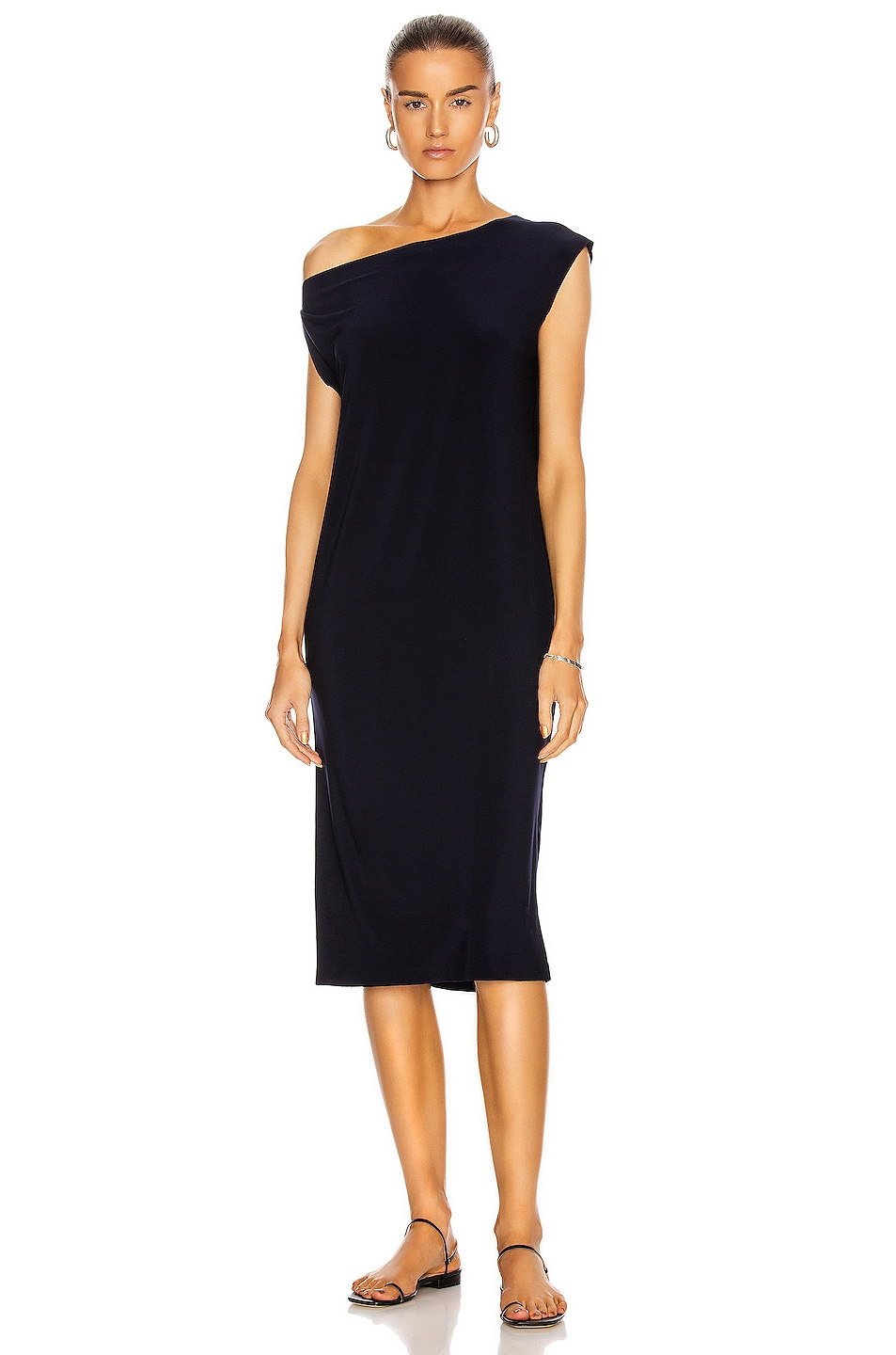 Image 1 of Norma Kamali Drop Shoulder Dress in Midnight