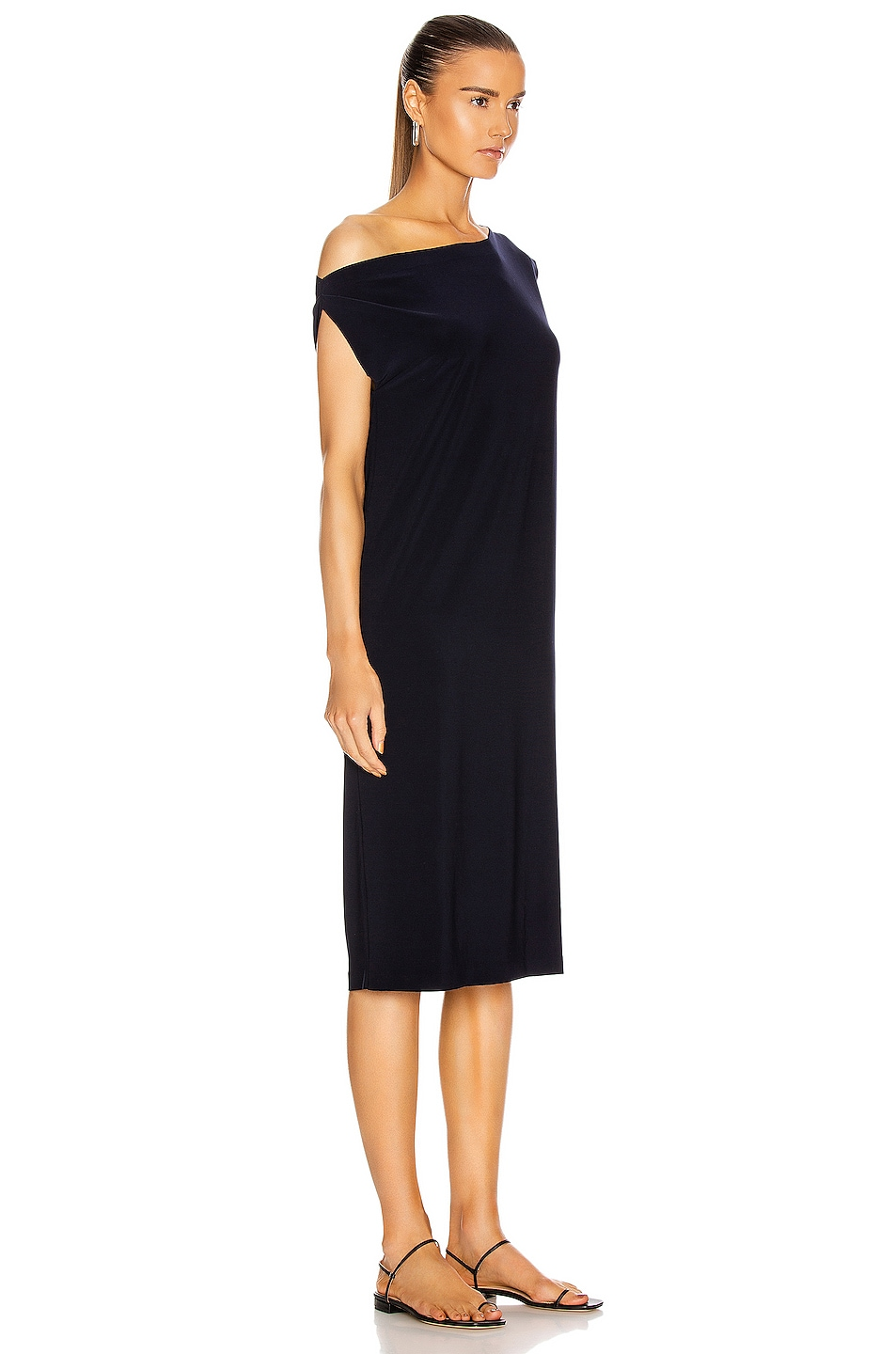 Image 2 of Norma Kamali Drop Shoulder Dress in Midnight