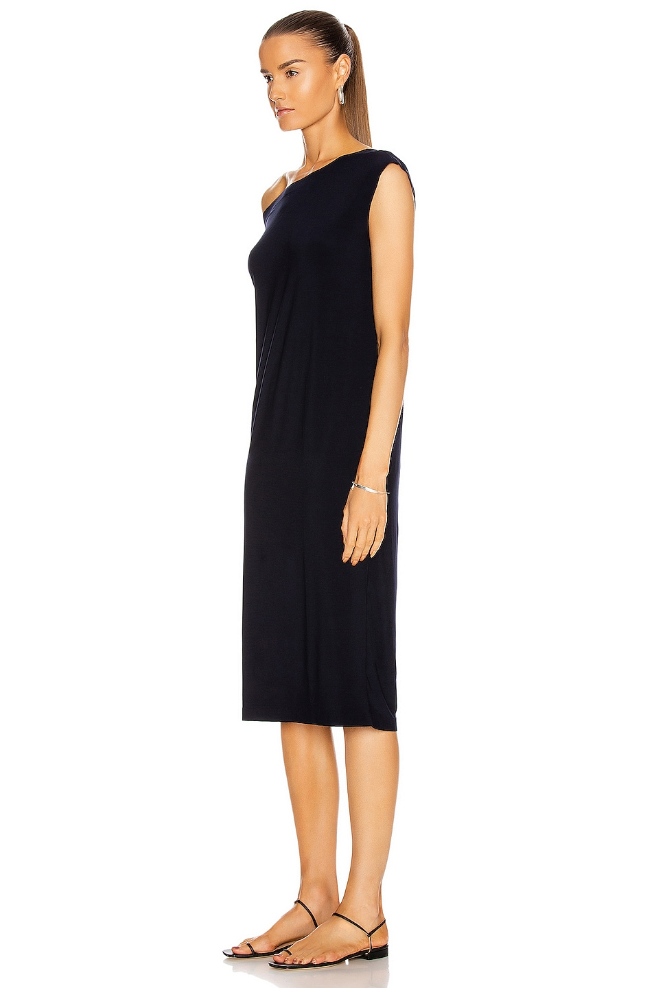 Image 3 of Norma Kamali Drop Shoulder Dress in Midnight