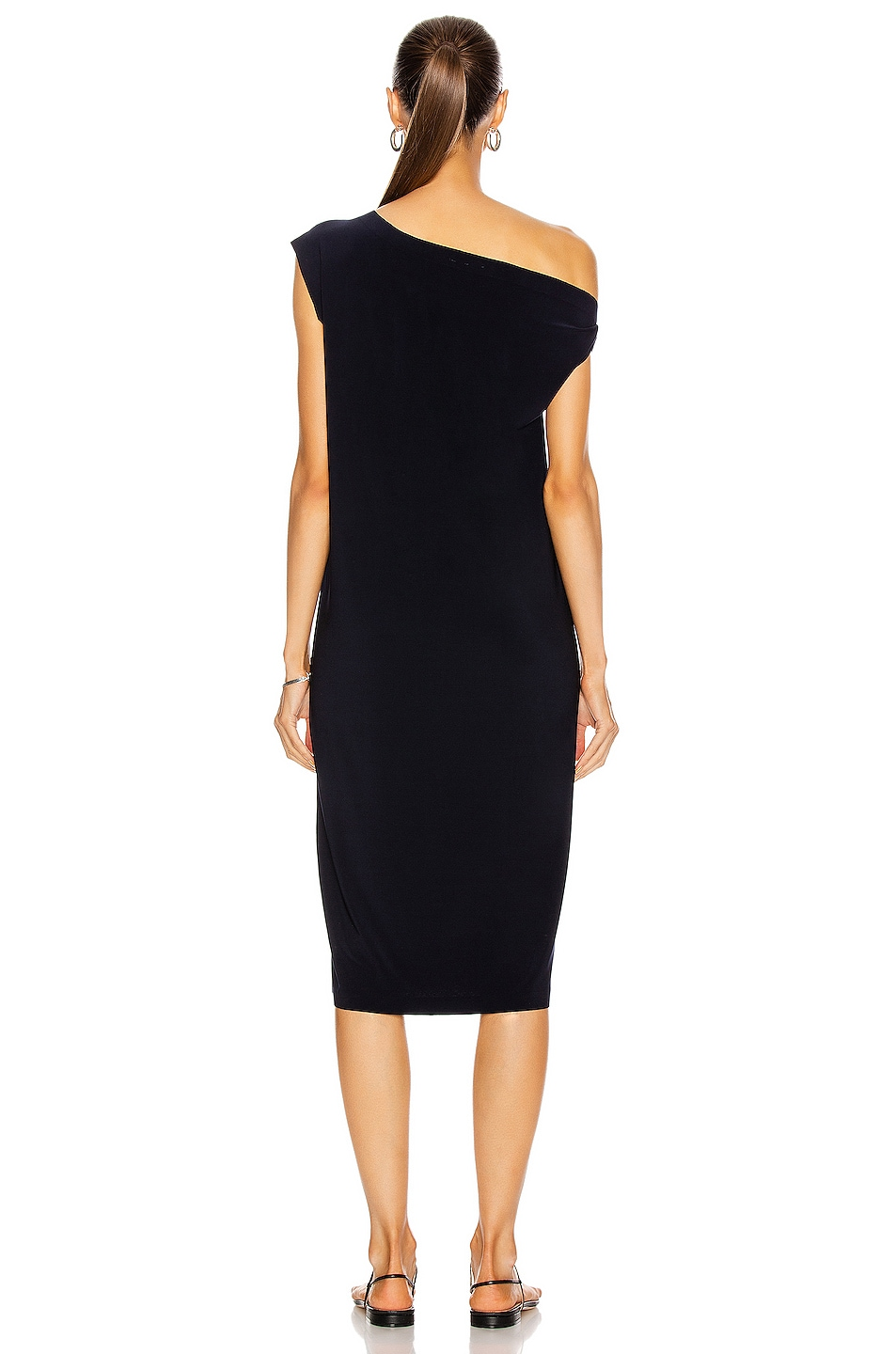 Image 4 of Norma Kamali Drop Shoulder Dress in Midnight