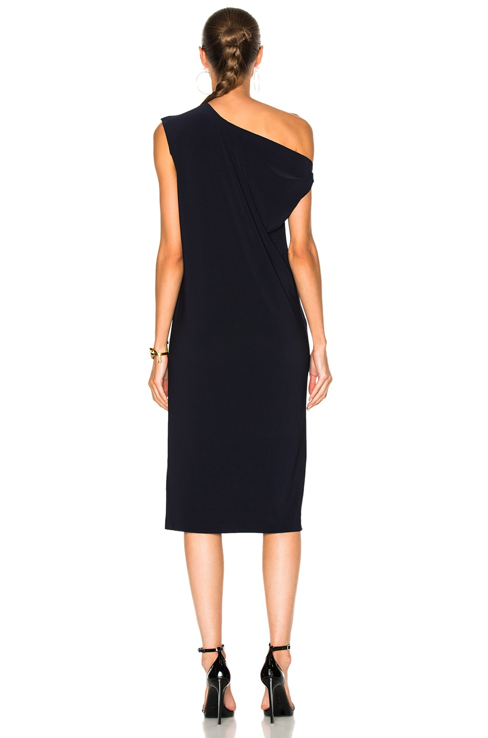Image 5 of Norma Kamali Drop Shoulder Dress in Midnight