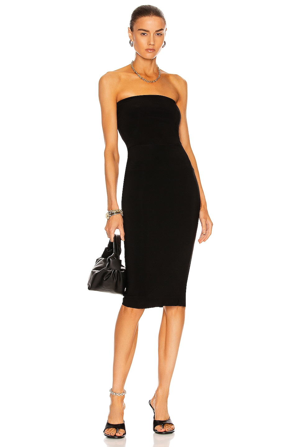 Image 1 of Norma Kamali Strapless Dress in Black
