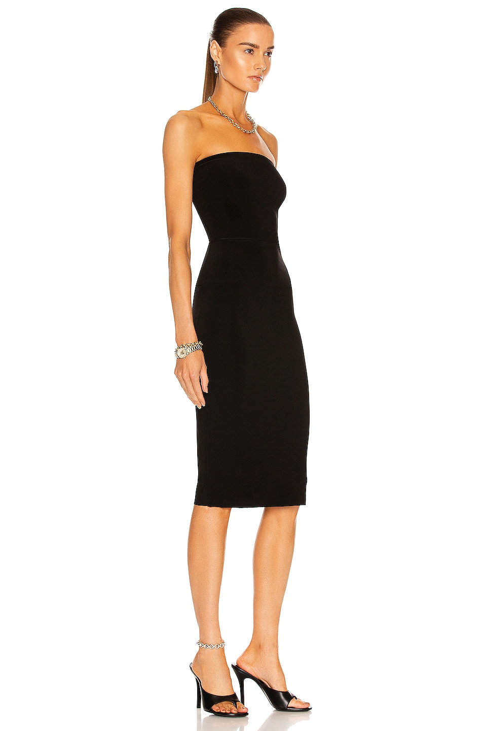 Image 2 of Norma Kamali Strapless Dress in Black