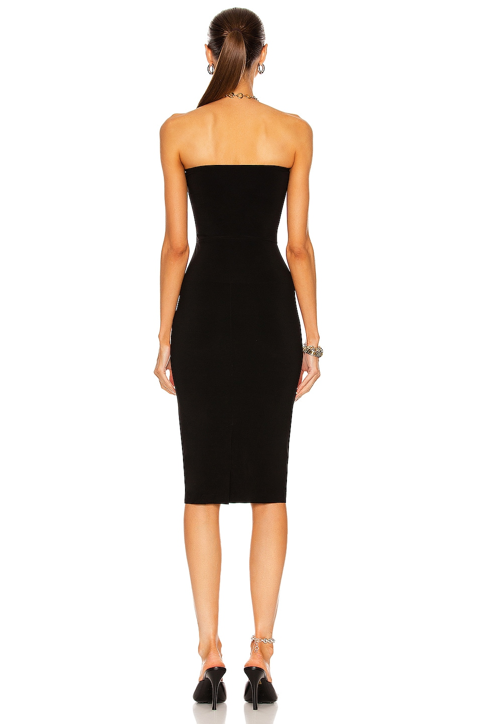 Image 3 of Norma Kamali Strapless Dress in Black