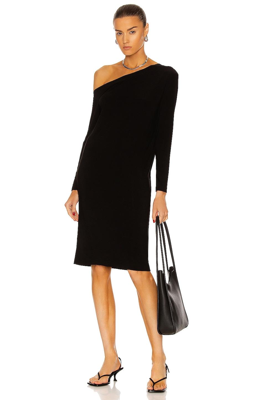 Image 1 of Norma Kamali Drop Shoulder Dress in Black