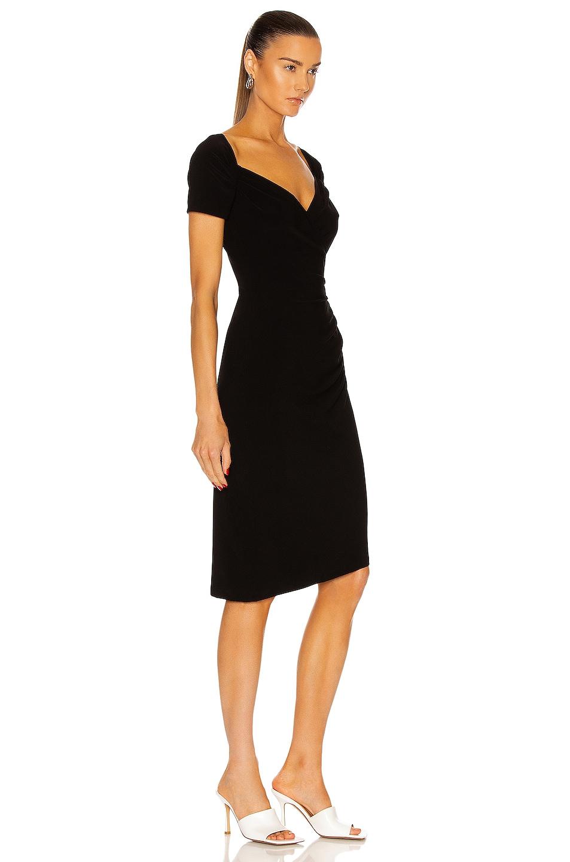 Image 2 of Norma Kamali Sweetheart Side Drape Dress in Black