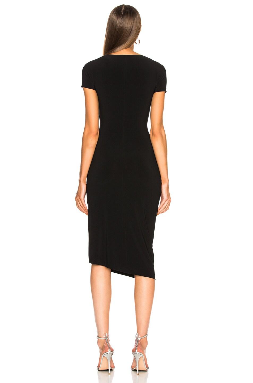 Image 4 of Norma Kamali Sweetheart Side Drape Dress in Black