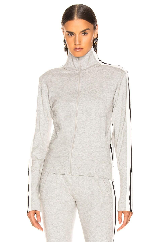 Image 2 of Norma Kamali Side Stripe Turtle Jacket in Heather Grey