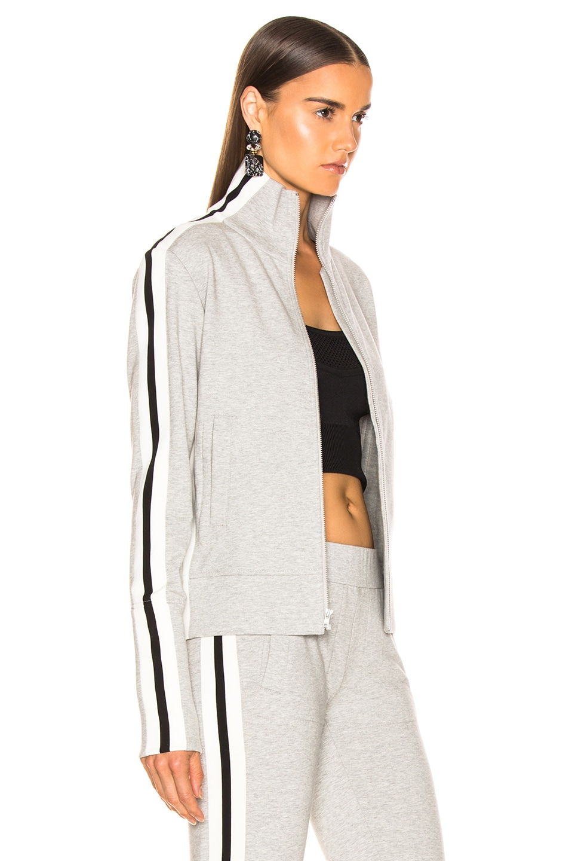 Image 3 of Norma Kamali Side Stripe Turtle Jacket in Heather Grey