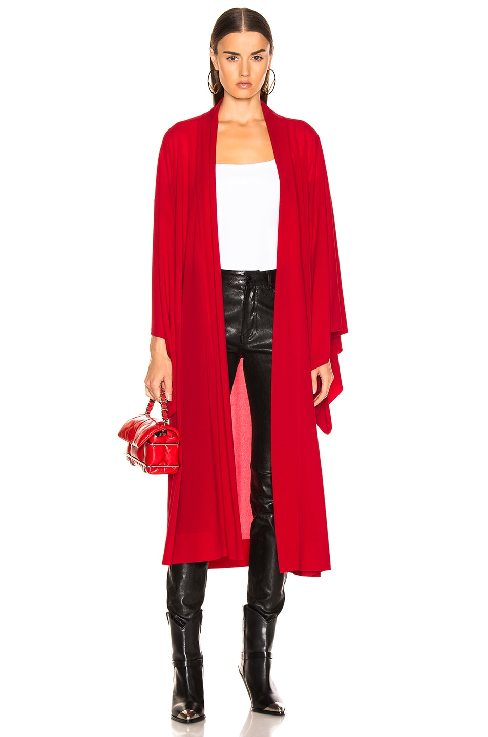 Image 1 of Norma Kamali Midcalf Robe in Red