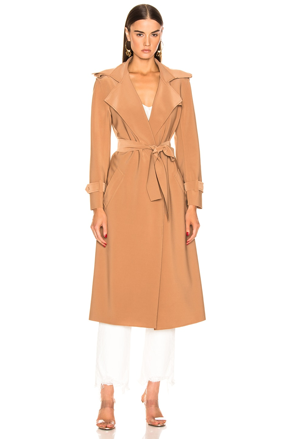 Image 2 of Norma Kamali Double Breasted Trench in Suntan