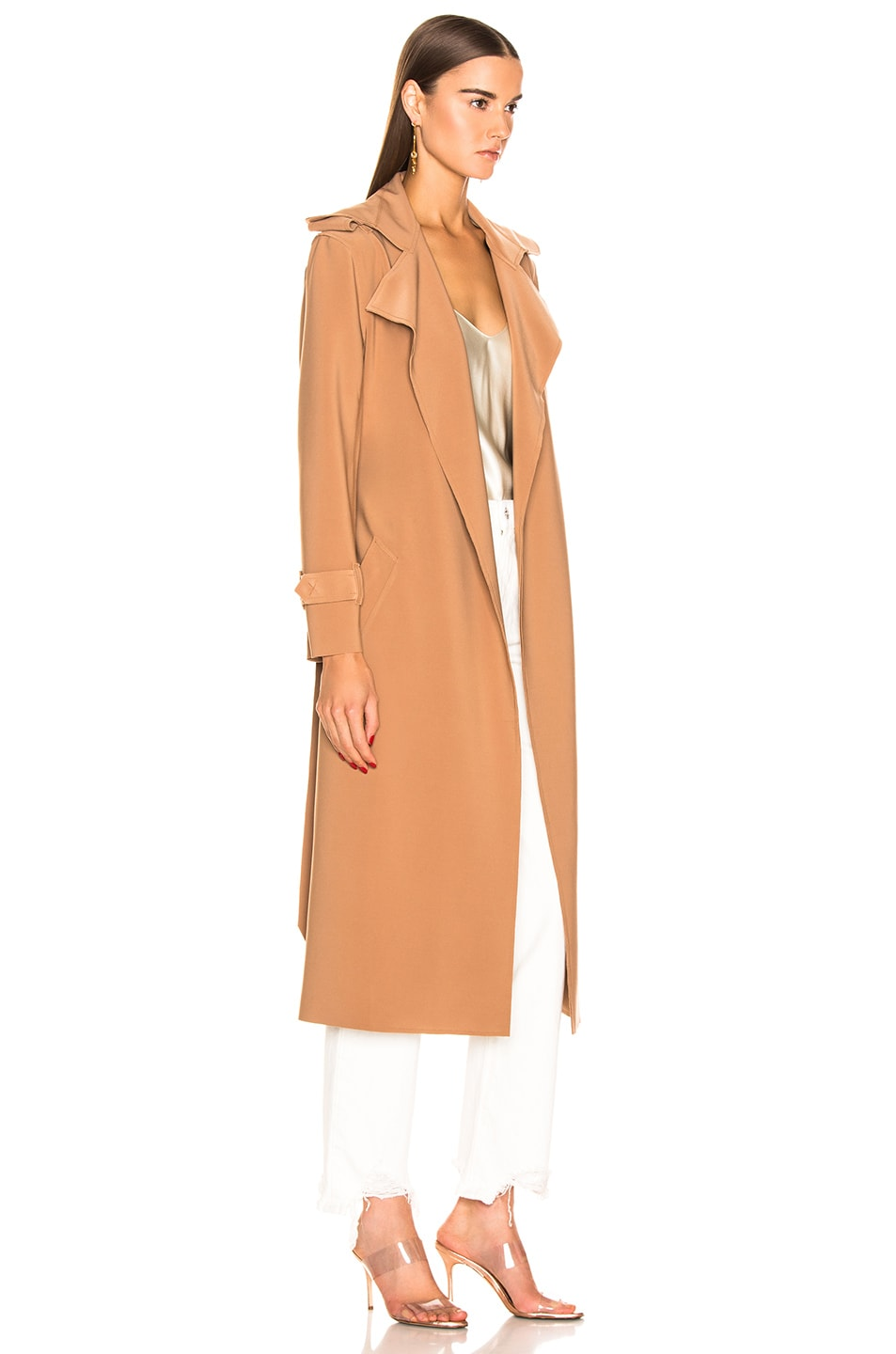 Image 3 of Norma Kamali Double Breasted Trench in Suntan