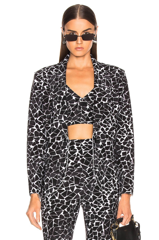 Image 1 of Norma Kamali Single Breasted Jacket in Black Mosaic