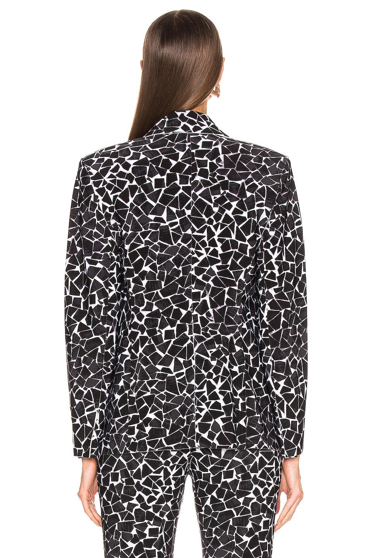 Image 4 of Norma Kamali Single Breasted Jacket in Black Mosaic