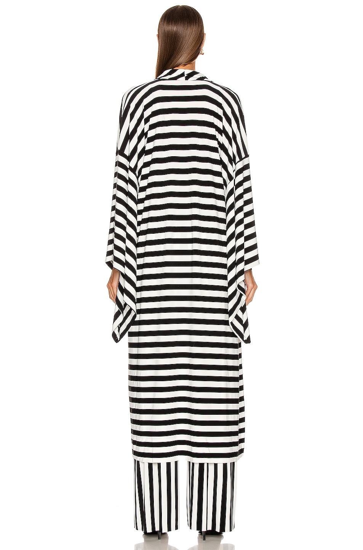 Image 4 of Norma Kamali Midcalf Robe in Stripe