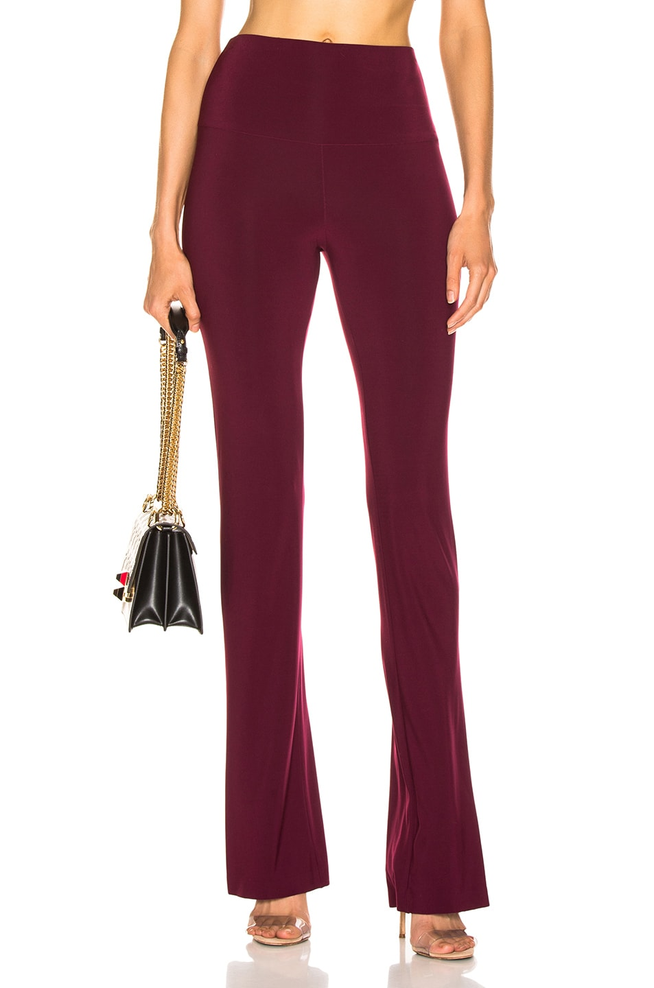 Image 1 of Norma Kamali Boot Pant in Plum