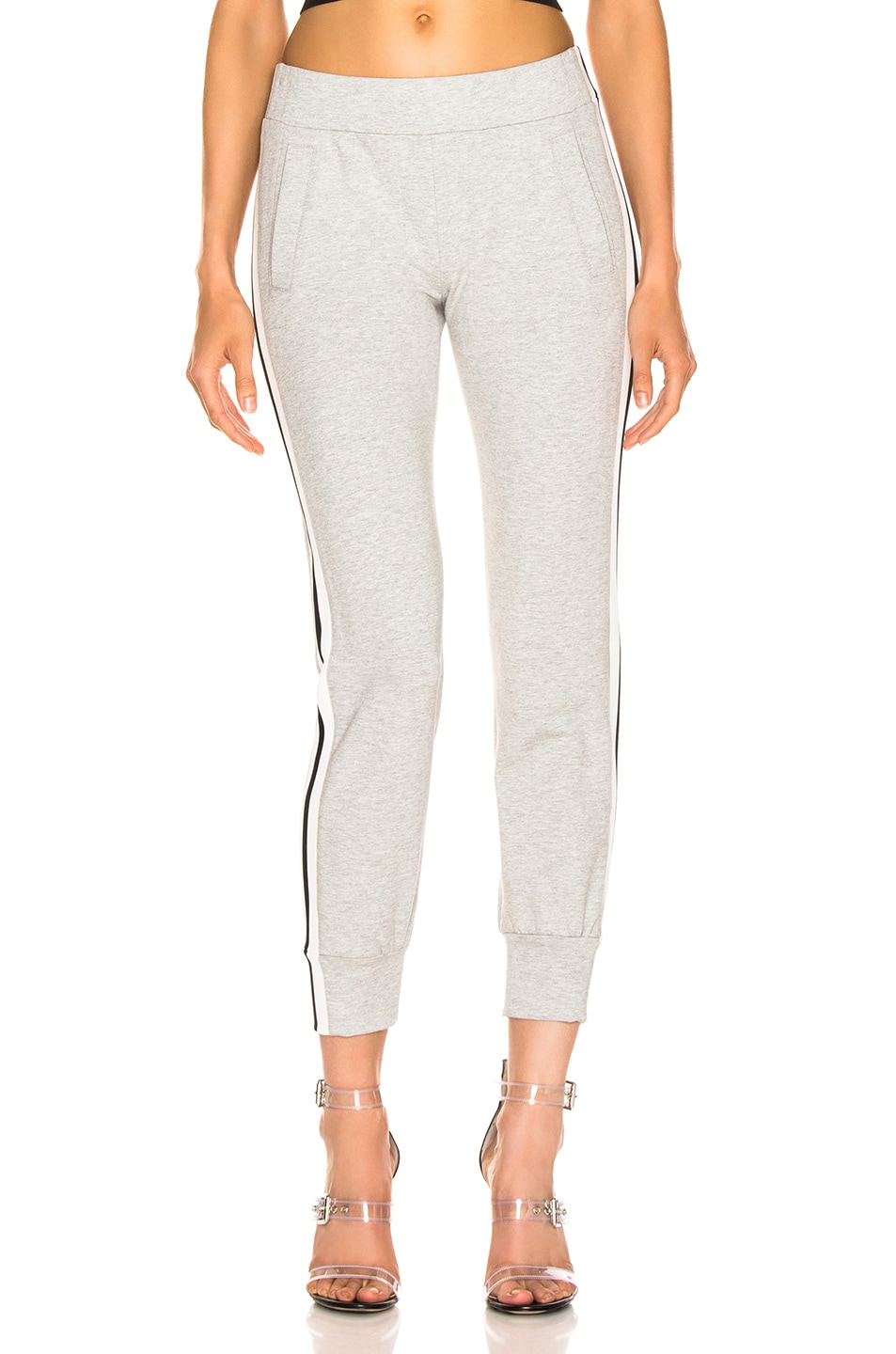 Image 2 of Norma Kamali Side Stripe Jog Pant in Heather Grey