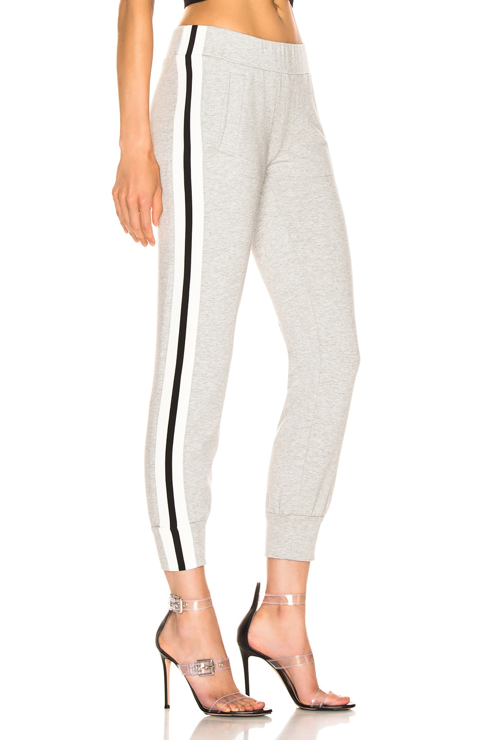 Image 3 of Norma Kamali Side Stripe Jog Pant in Heather Grey