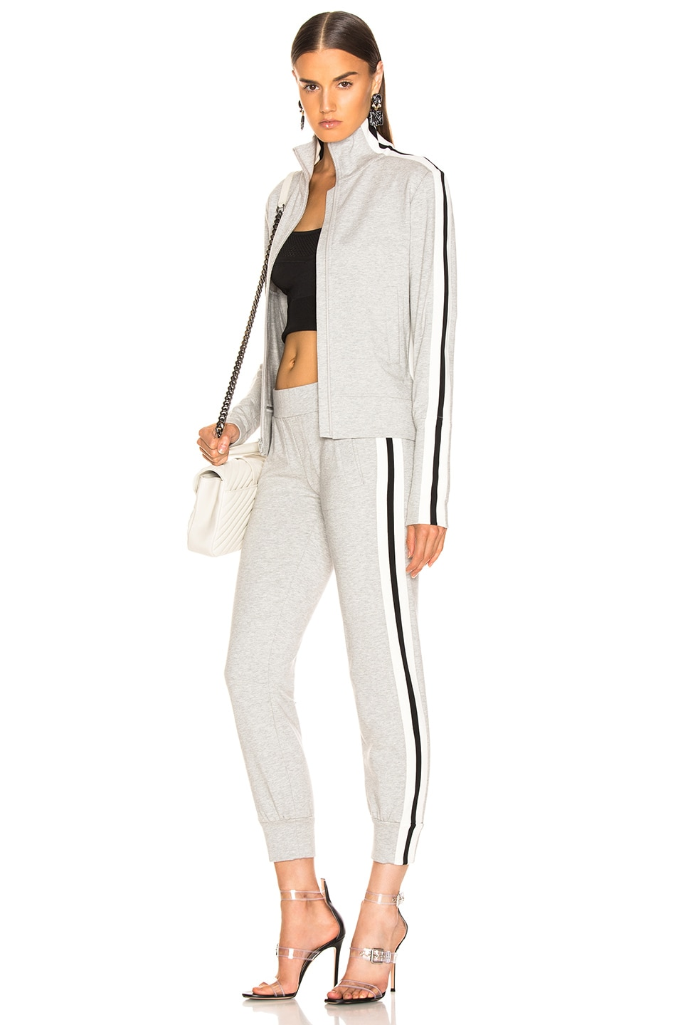 Image 5 of Norma Kamali Side Stripe Jog Pant in Heather Grey