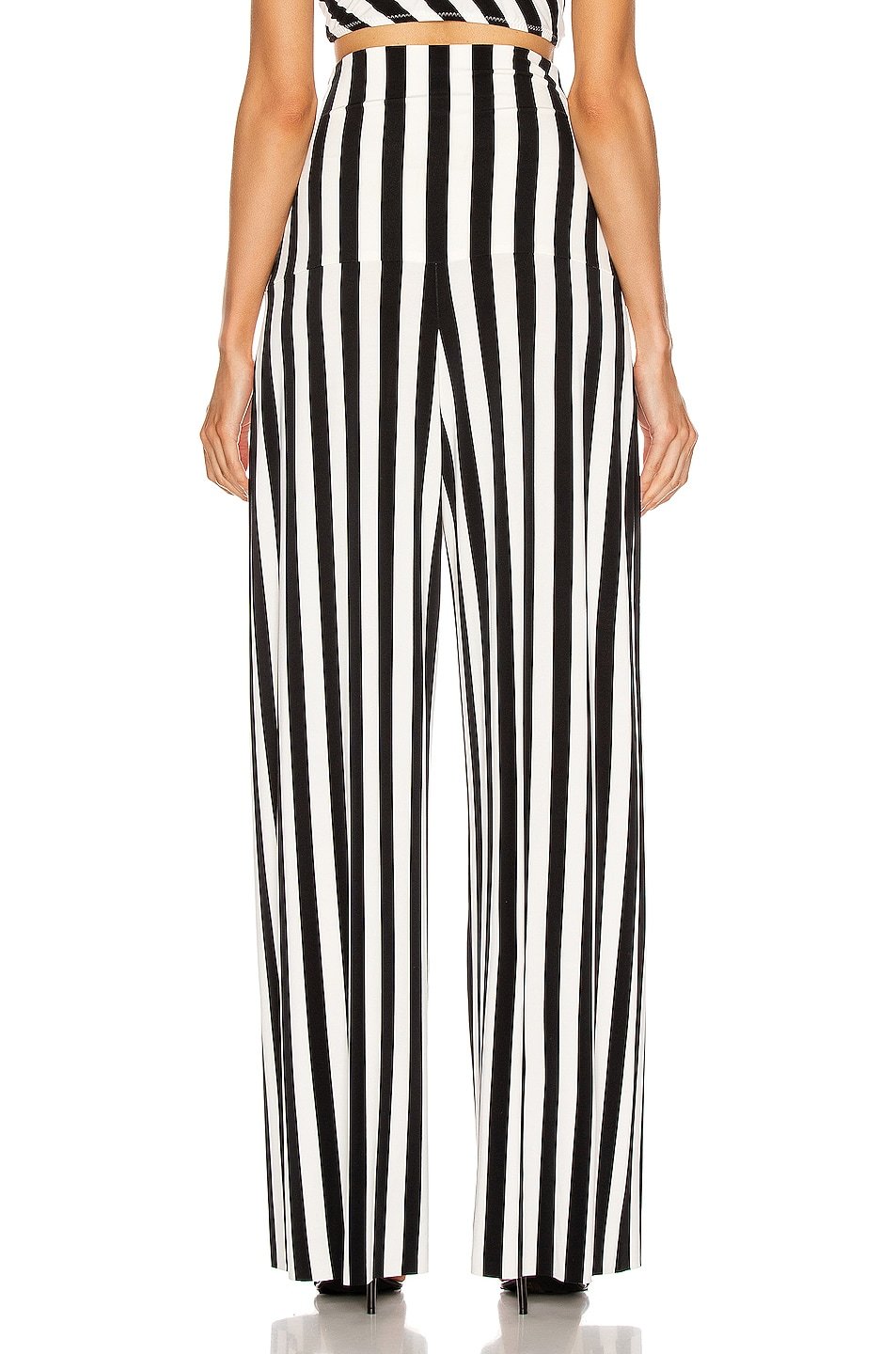 Image 3 of Norma Kamali High Waist Pleat Pant in Stripe