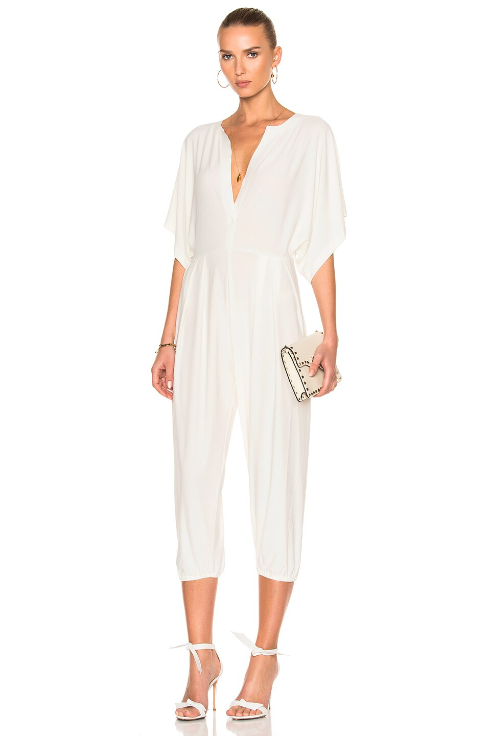 f03d4c1a707b Image 1 of Norma Kamali Rectangle Jog Jumpsuit in Ivory