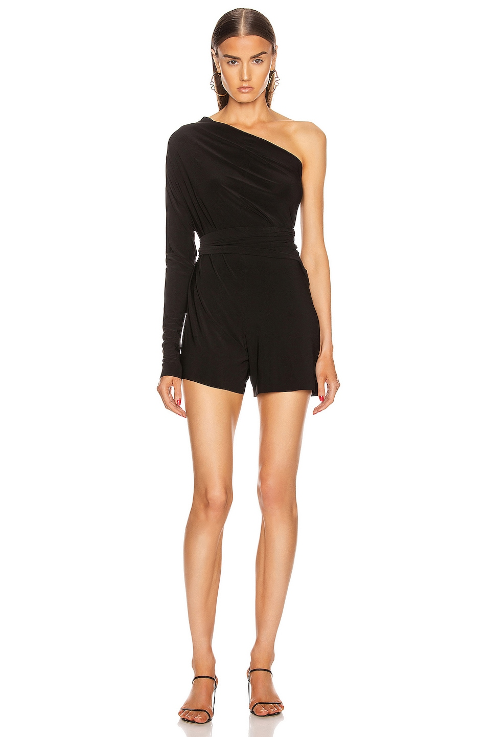 Image 3 of Norma Kamali TY Front All In One Strapless Jumpshort in Black