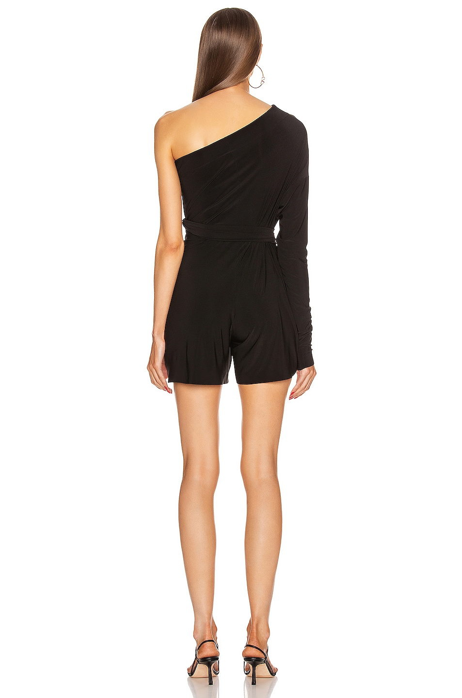 Image 5 of Norma Kamali TY Front All In One Strapless Jumpshort in Black