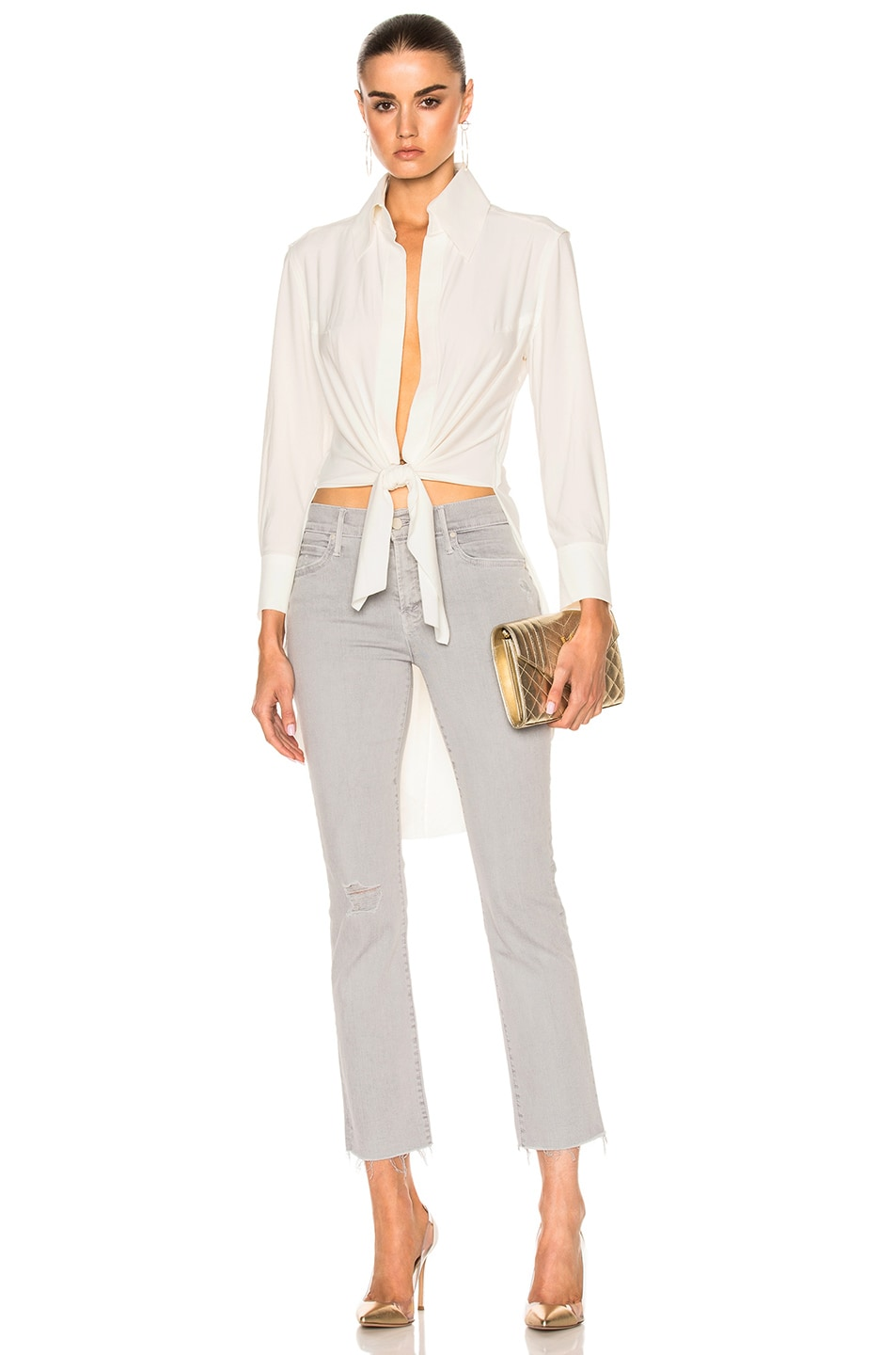 764ca81efa80 Image 1 of Norma Kamali Tie Front Shirt in Ivory