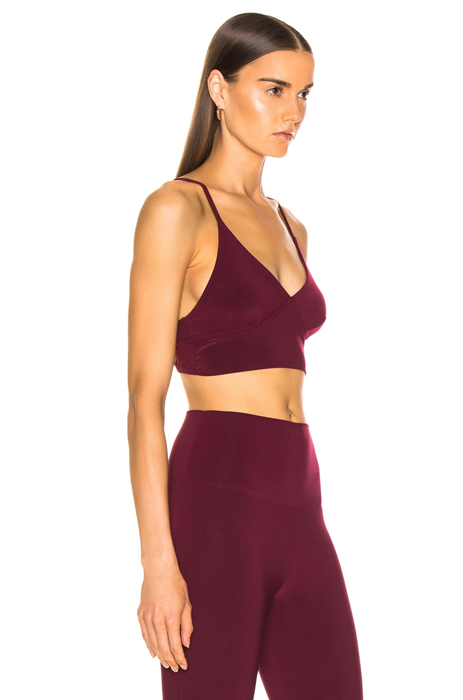 Image 2 of Norma Kamali Slip Bra in Plum