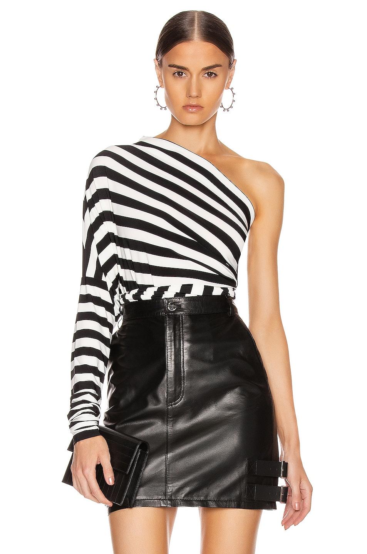 Image 1 of Norma Kamali All In Bodysuit in Stripe