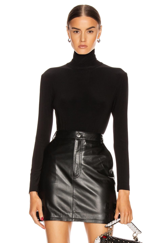 Image 1 of Norma Kamali Long Sleeve Turtleneck Bodysuit in Black