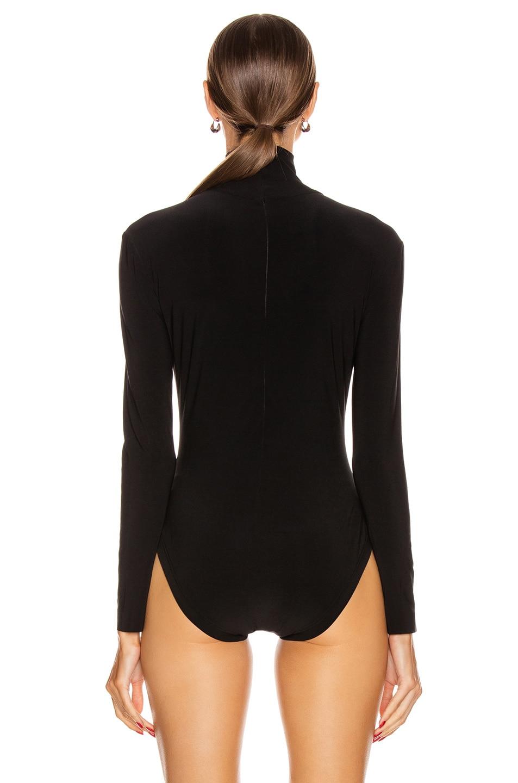 Image 4 of Norma Kamali Long Sleeve Turtleneck Bodysuit in Black