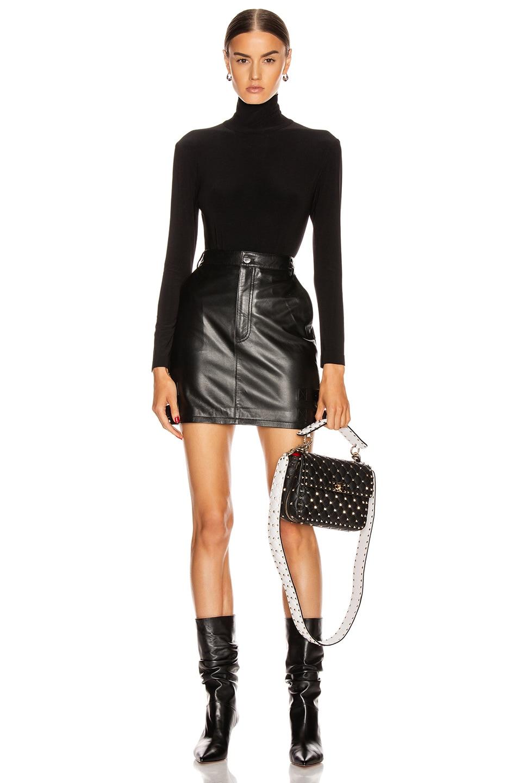 Image 5 of Norma Kamali Long Sleeve Turtleneck Bodysuit in Black