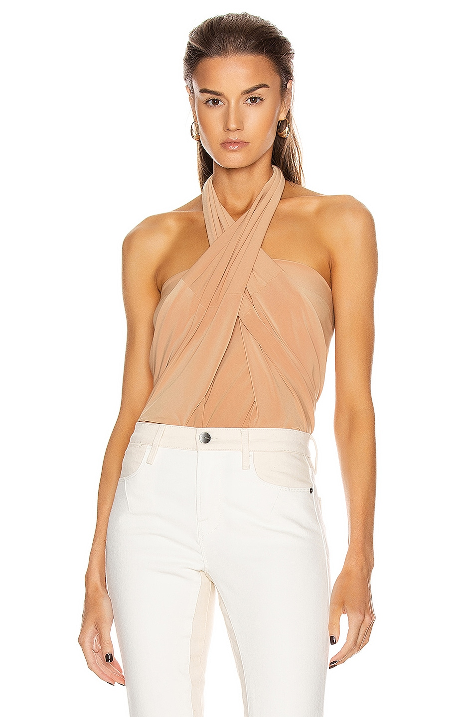 Image 1 of Norma Kamali All In One Bodysuit in Nude