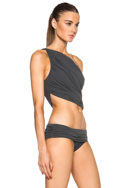 faa937f932c Image 3 of Norma Kamali Diana Bra Bikini Top in Pewter