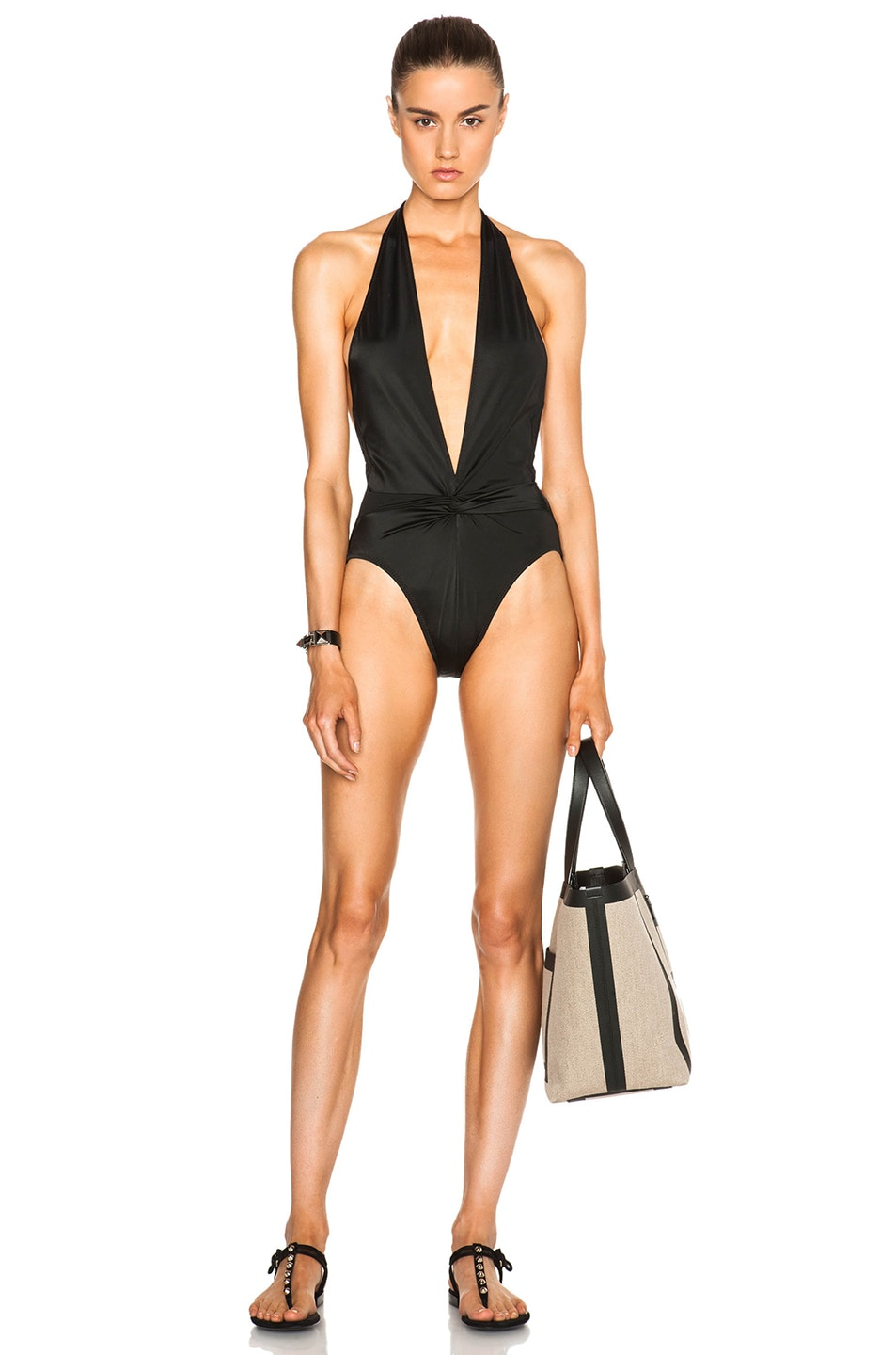 Image 1 of Norma Kamali Twister Swimsuit in Black
