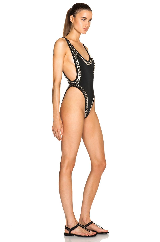 Image 3 of Norma Kamali Stud Marissa Swimsuit in Black