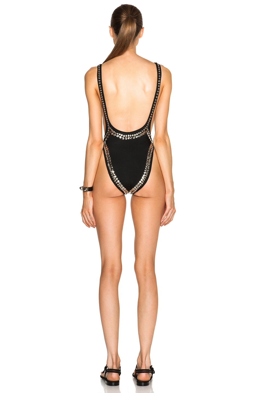 Image 4 of Norma Kamali Stud Marissa Swimsuit in Black
