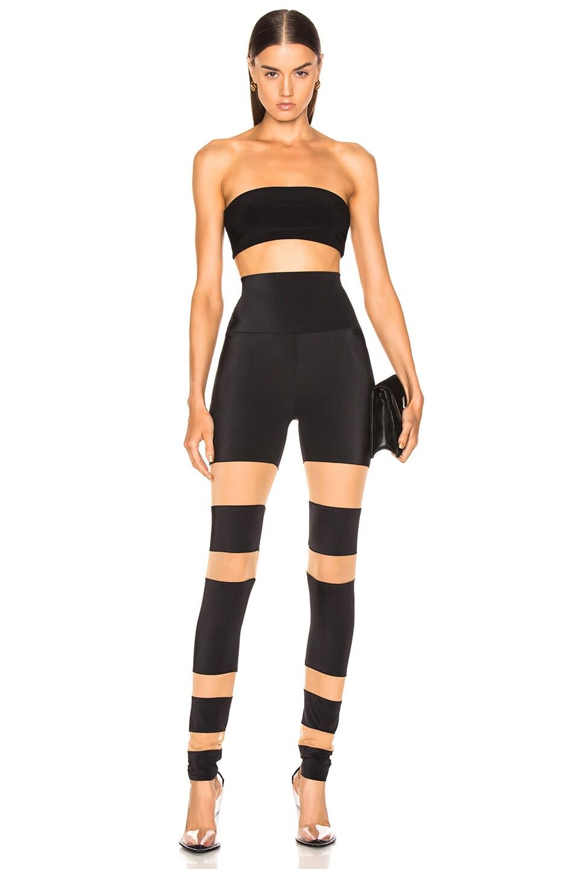 Image 4 of Norma Kamali Marissa Swimsuit Bandeau Top in Black